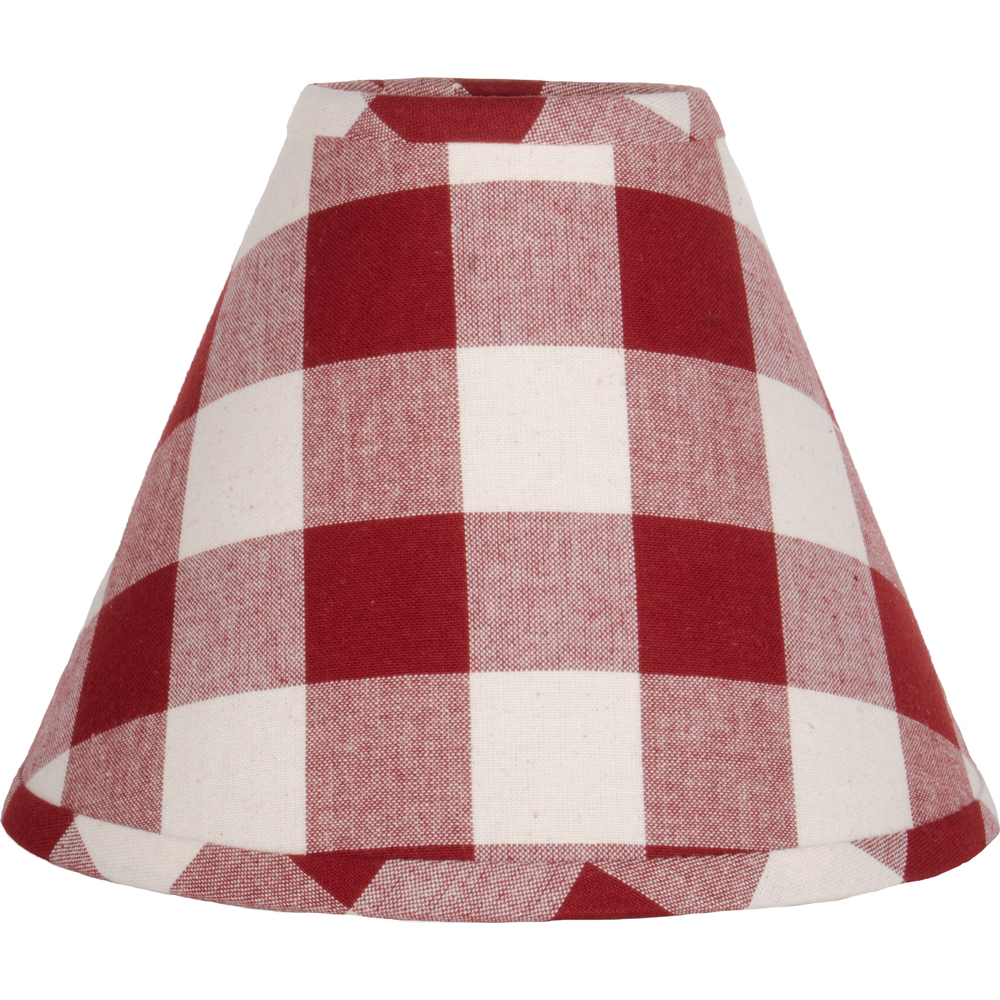 "Buffalo Check Barn Red-Buttermilk 10"" Shade"
