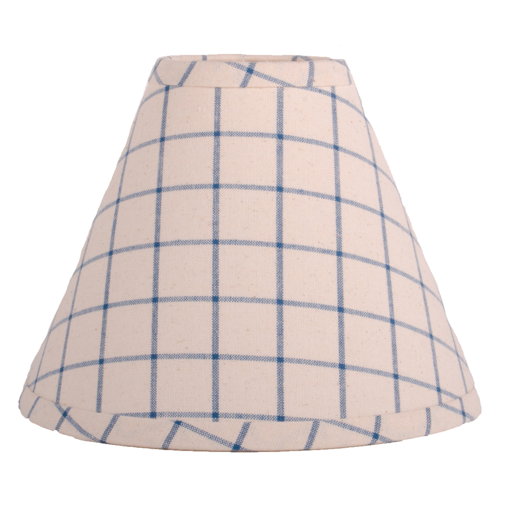 "Summerville Lampshade 12"" Regular Clip Colonial Blue-Osenburg"