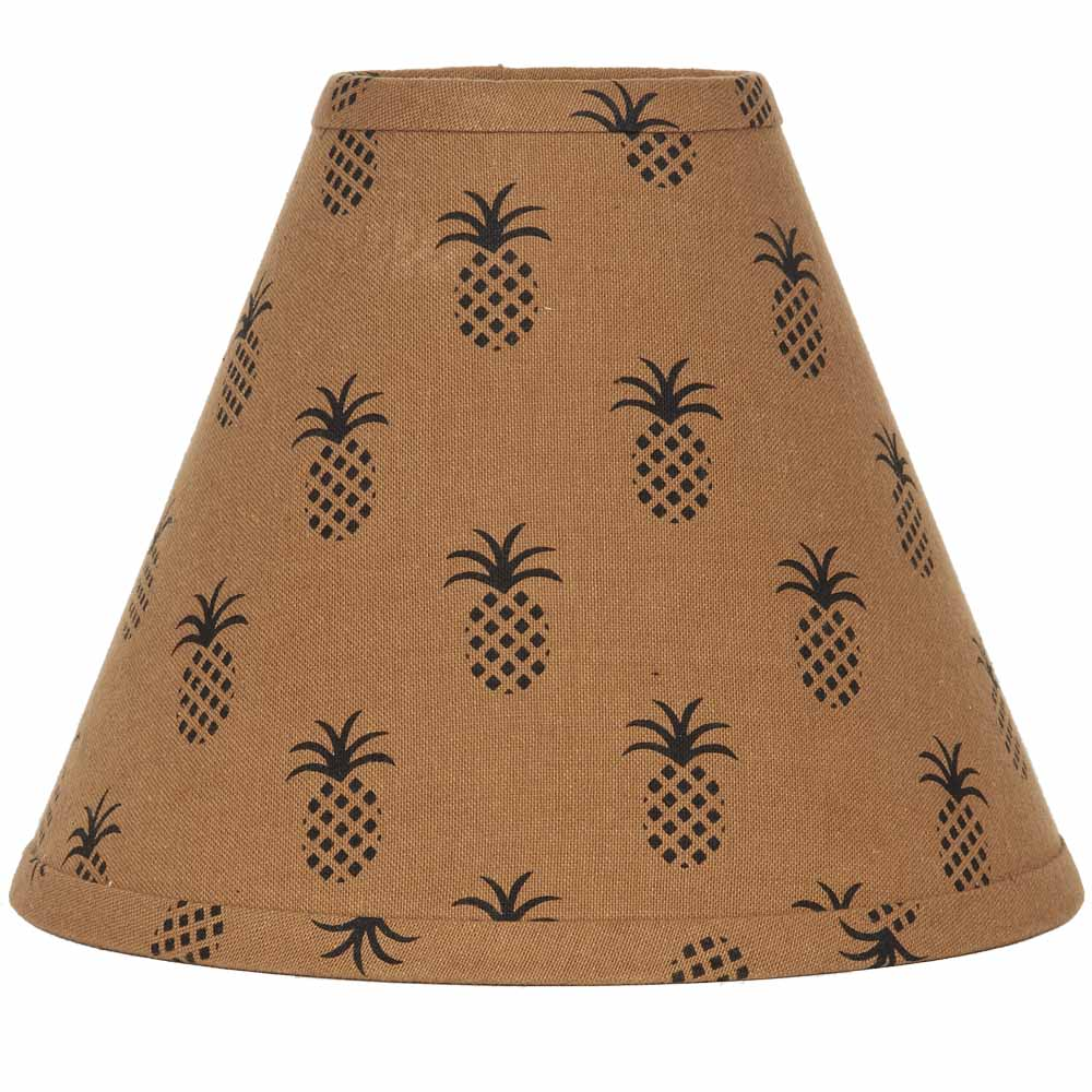 "Pineapple Town Lampshade 14"" Washer Mocha"