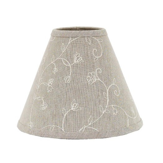 "Candlewicking Lampshade 14"" Washer Taupe"