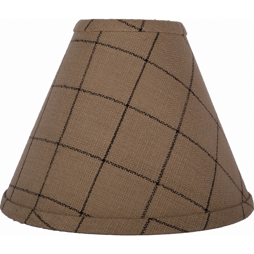Alexander Check Lampshade Oat - Black