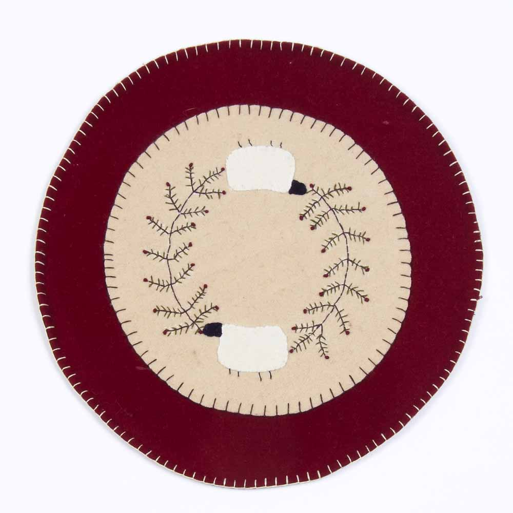 Sheep And Vine Candle Mat