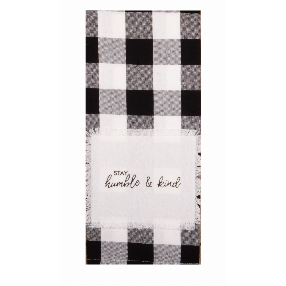 Buffalo Check Stay Humble & Kind Towel
