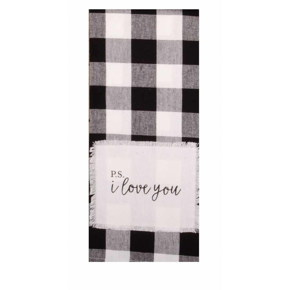 Buffalo Check P.S. I Love You Towel