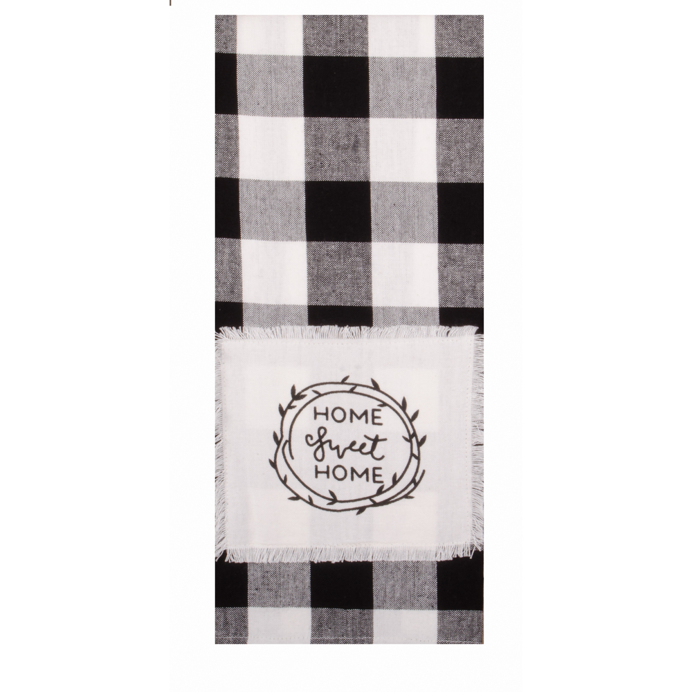 Buffalo Check Home Sweet Home Towel