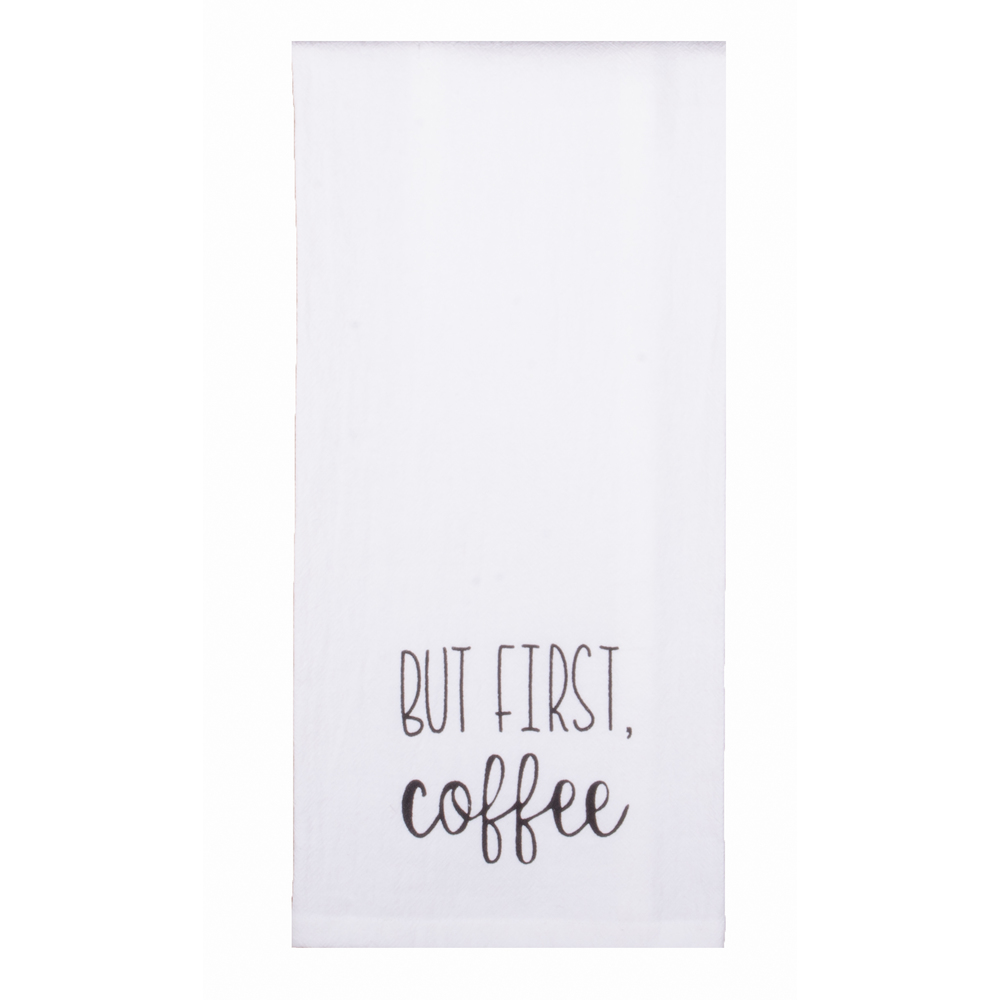 Solid But First Coffee Towel