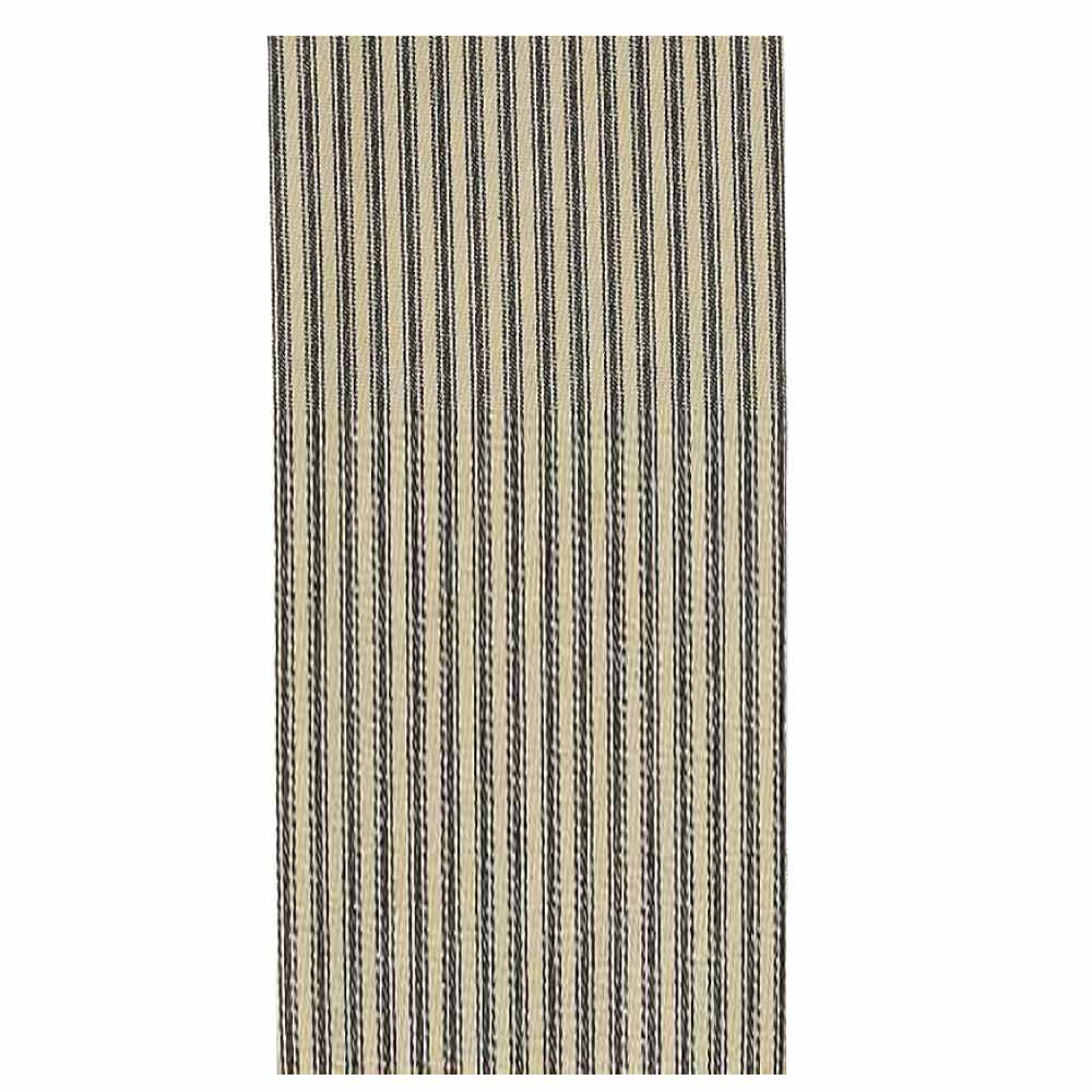 York Ticking Towel Black