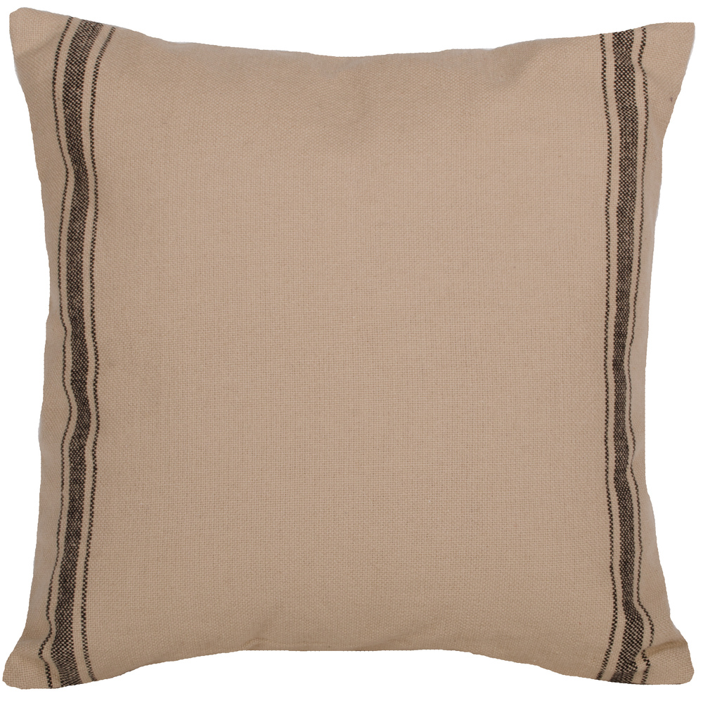 Grain Sack Stripe Black Pillow