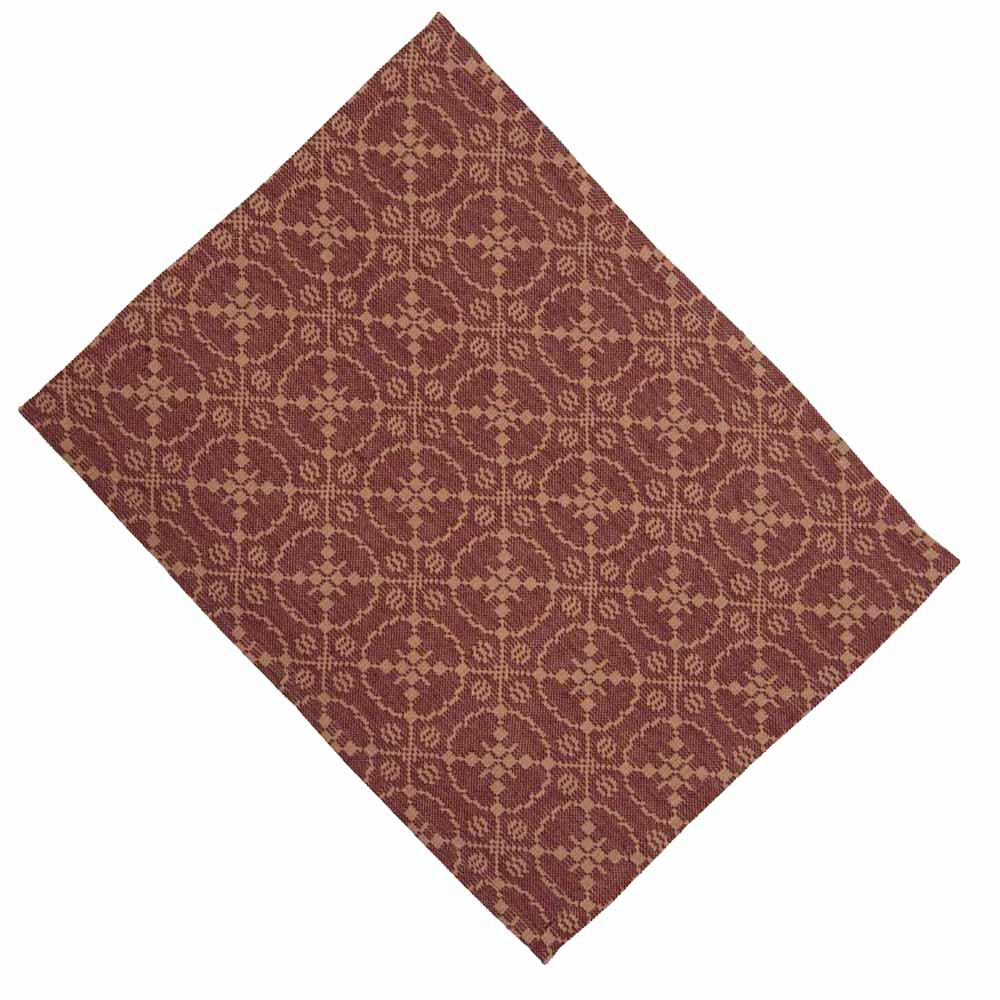 Marshfield Jacquard Placemat Barn Red