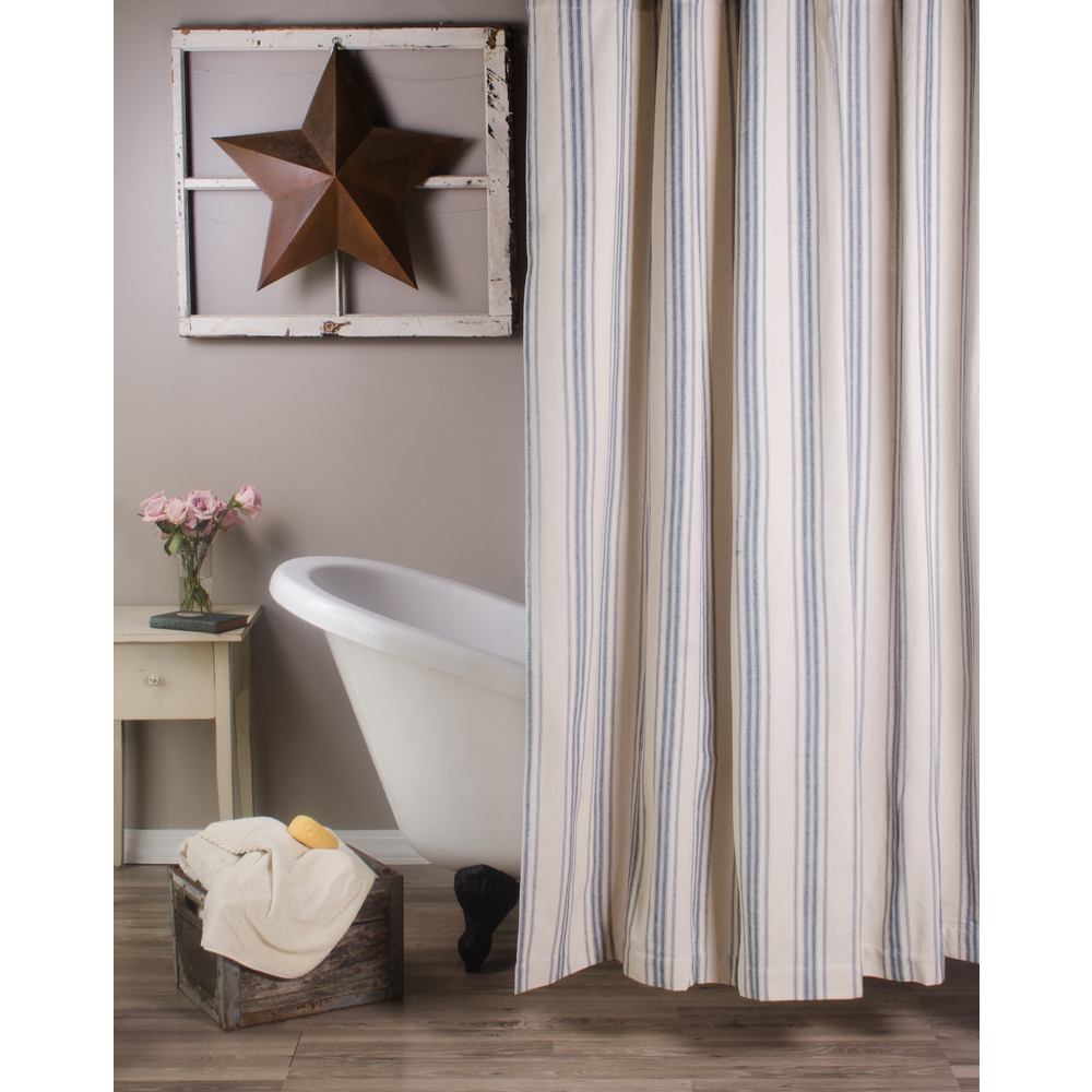 Grain Sack Stripe Shower Curtain