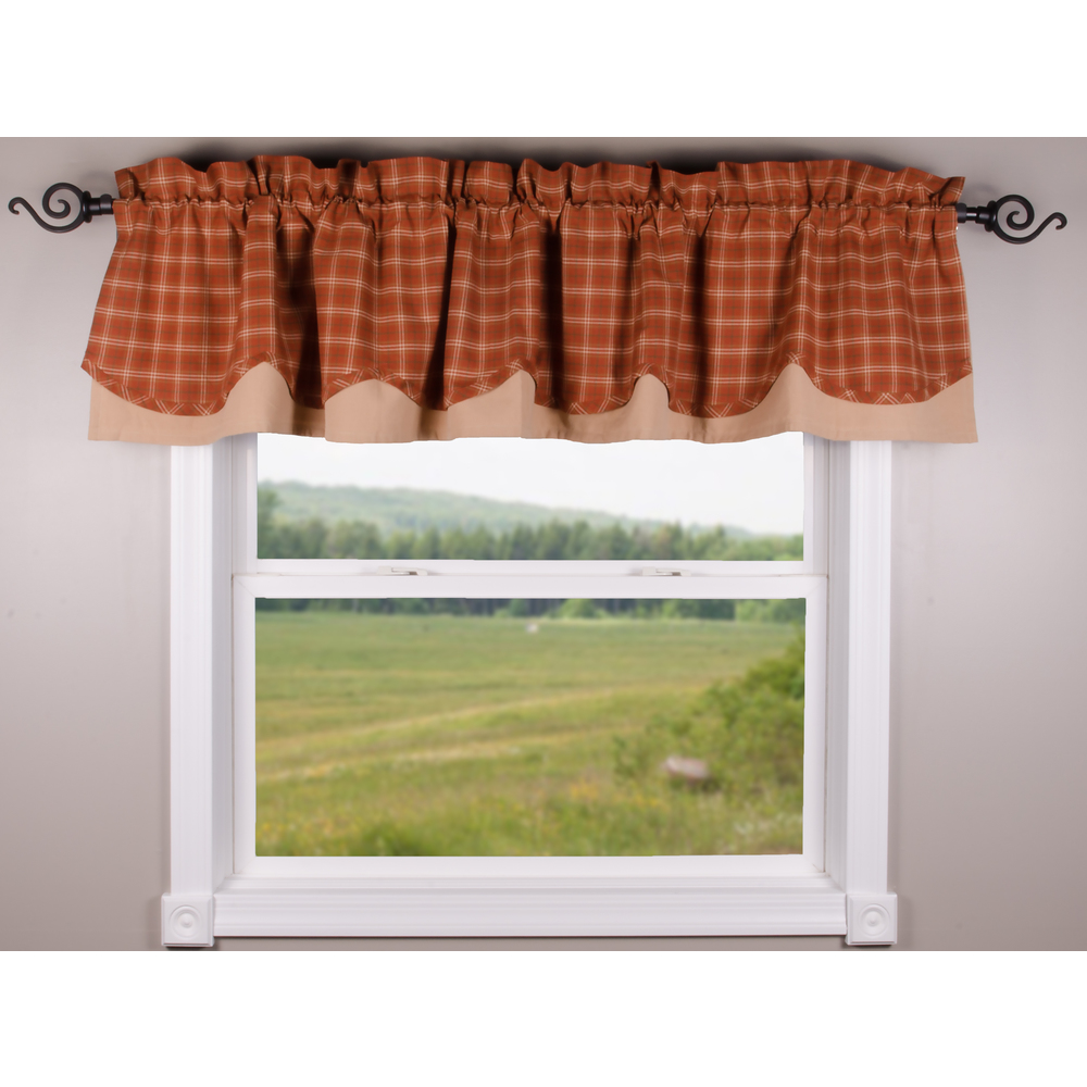 Pumpkin Spice Orange - Nutmeg Fairfield Valance