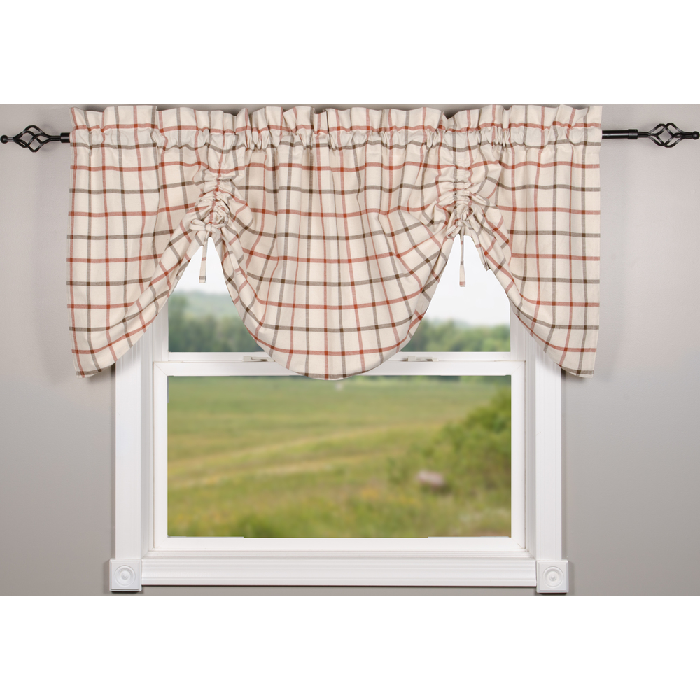 Harvest Plaid Osenburg Gathered Valance