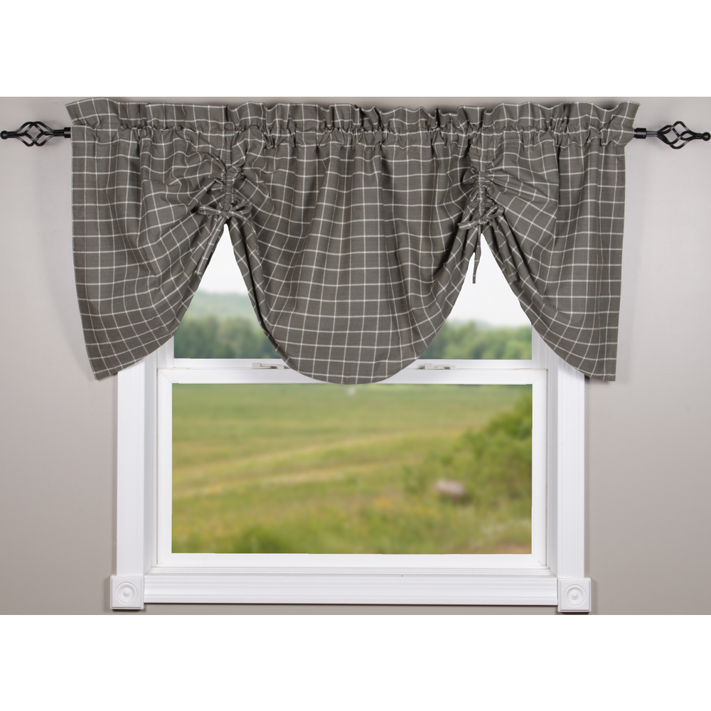 Summerville Pewter Gathered Valance