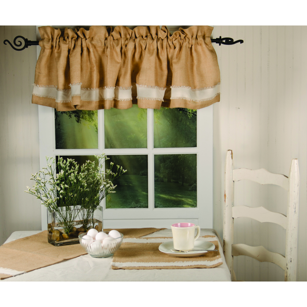 Burlap With Osenburg Valance