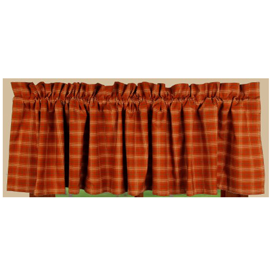 Pumpkin Spice Valance Orange-Green