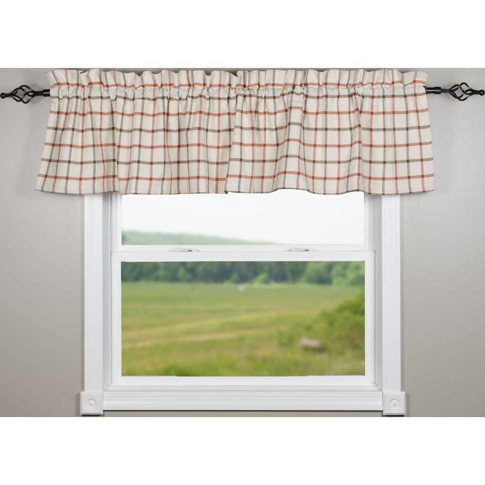 Harvest Plaid Osenburg Valance
