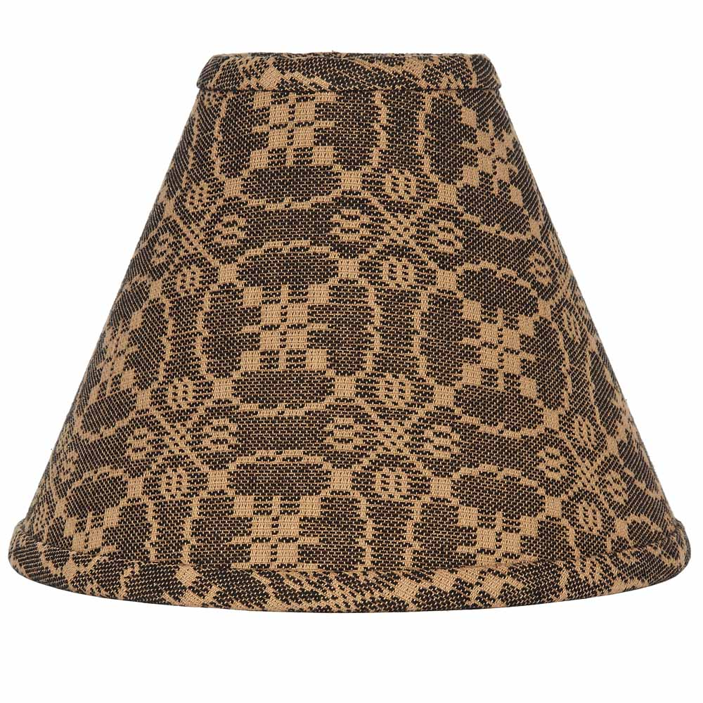 "Marshfield Jacquard Lampshade 12"" Regular Clip Black"