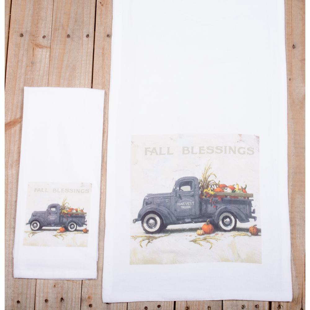 Fall Blessings White Towel
