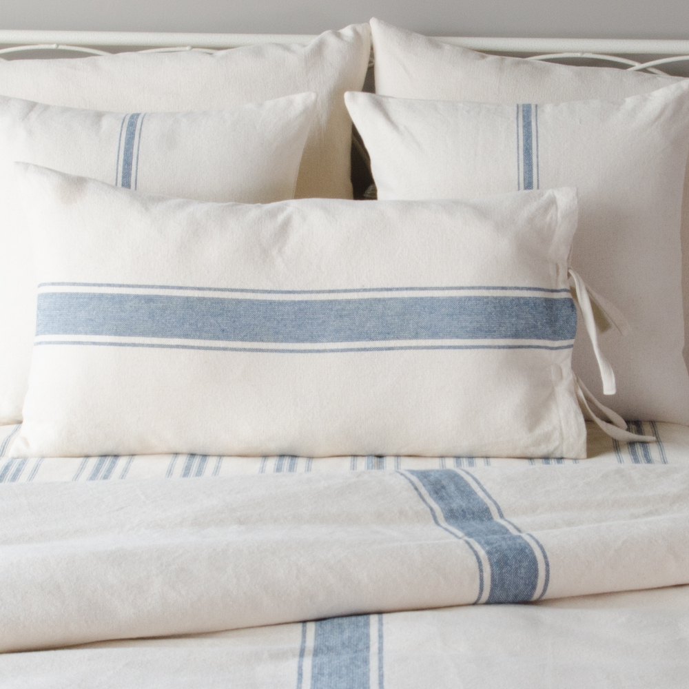 Grain Sack Stripe Lumbar Pillow Cover