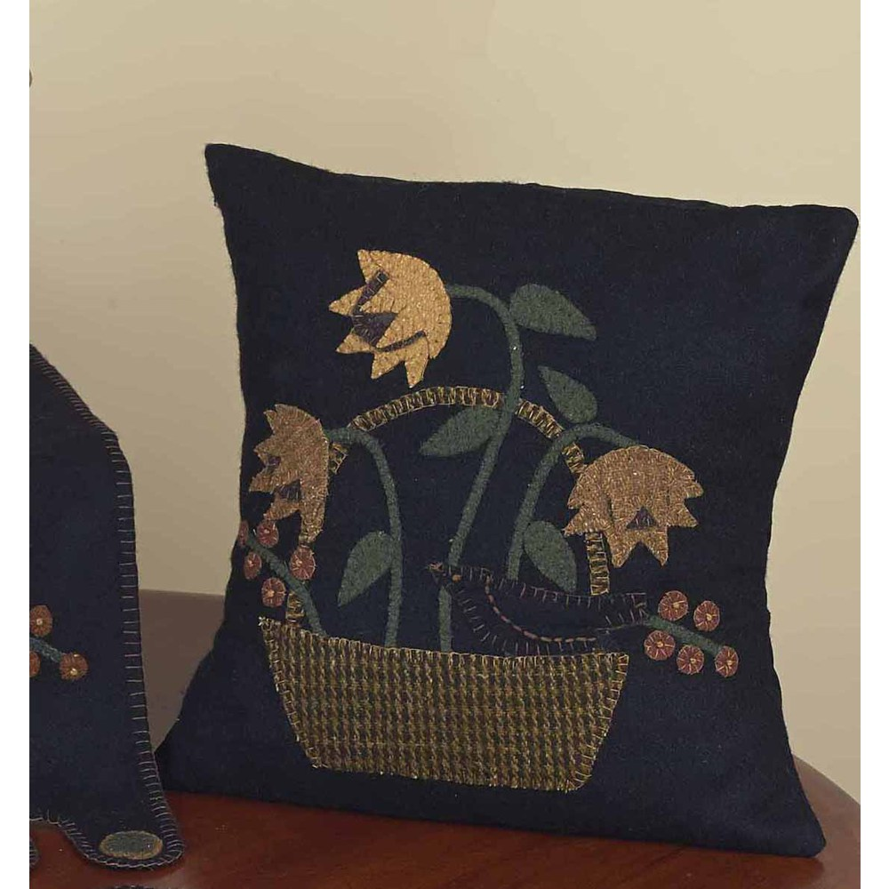 Crow In A Basket Pillow