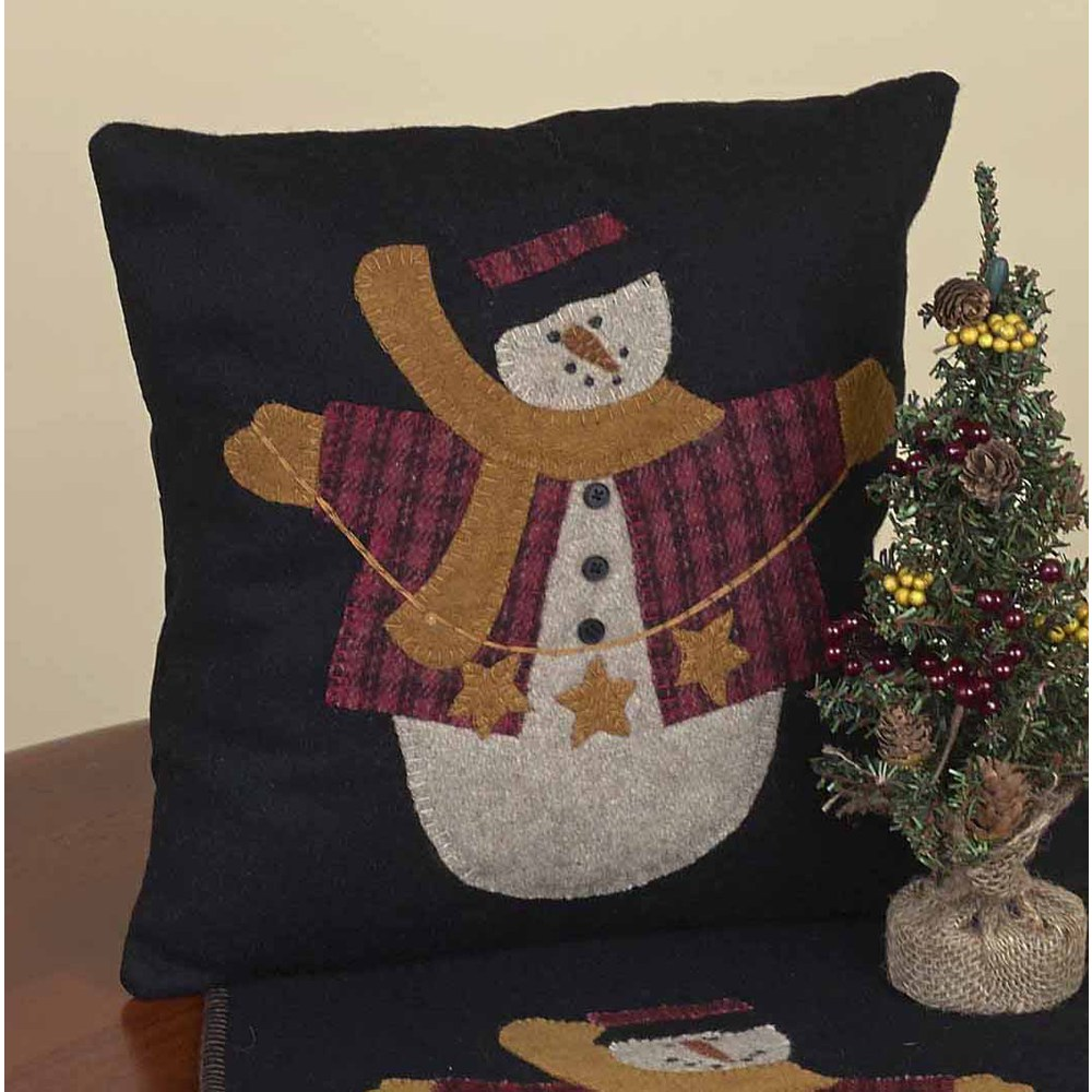 String Of Stars Snowman Pillow