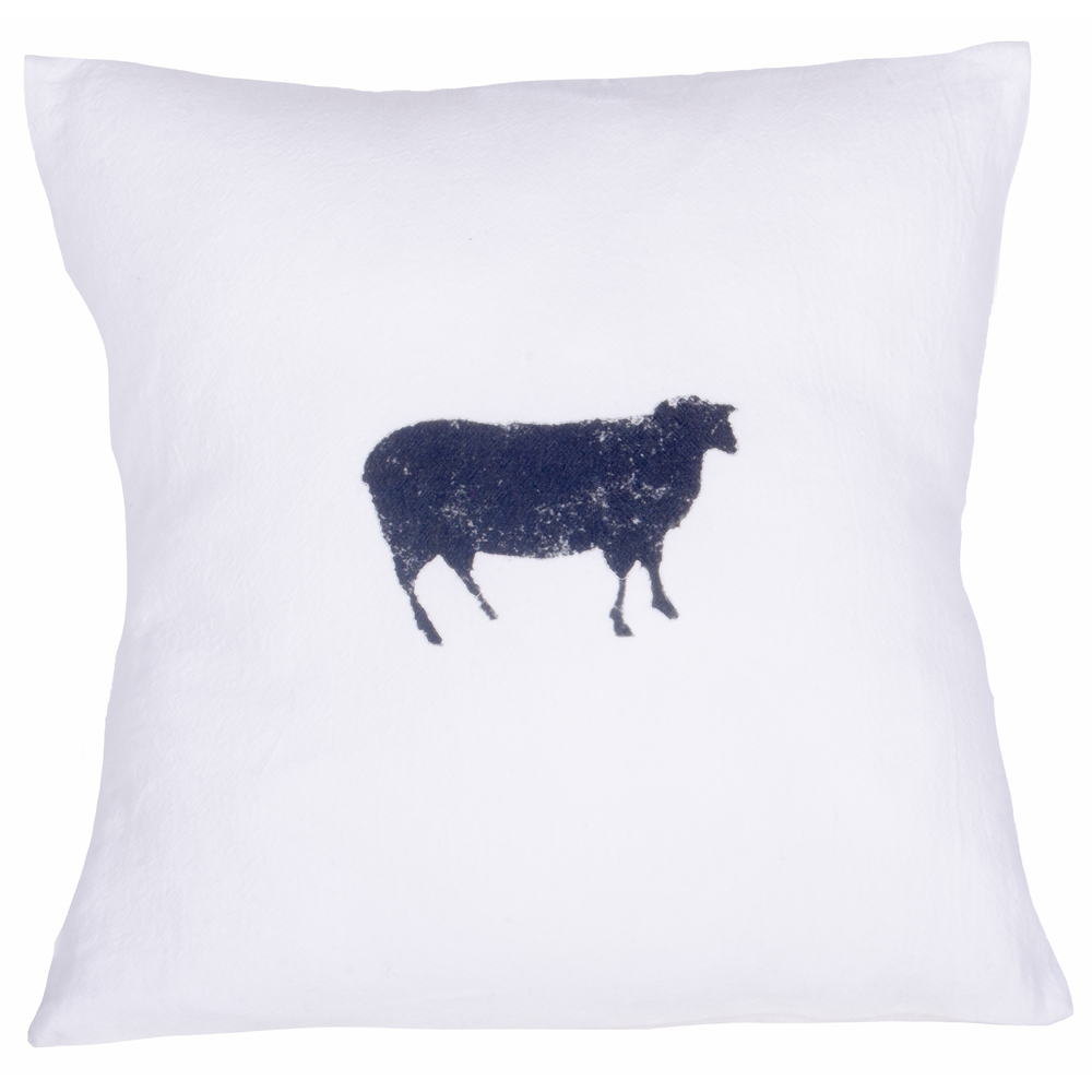 Farmhouse Sheep White Pillow
