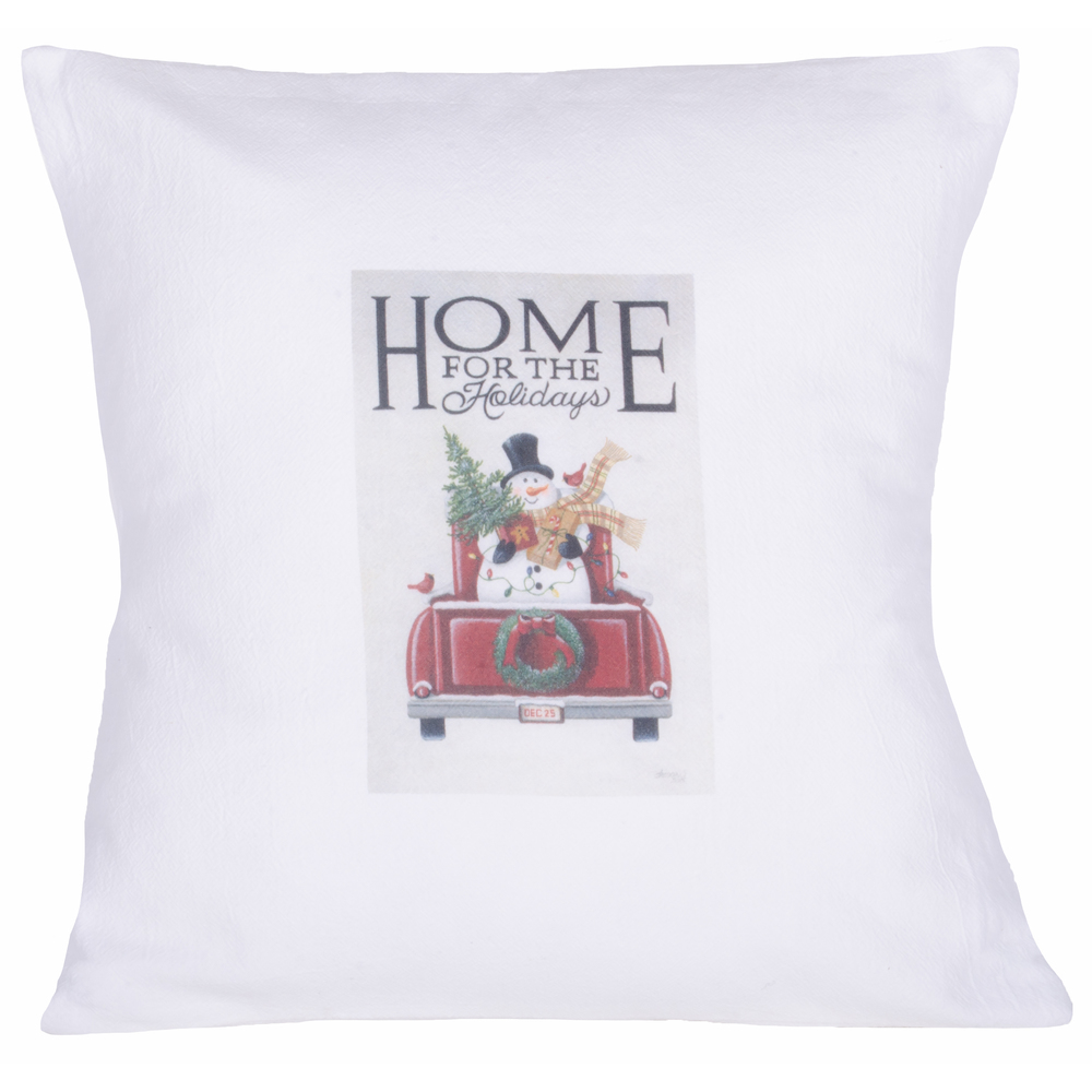 Home for the Holidays White Pillow