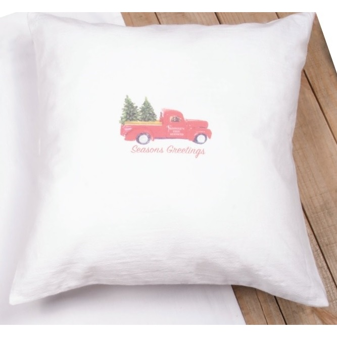 Kringle's Christmas White Pillow