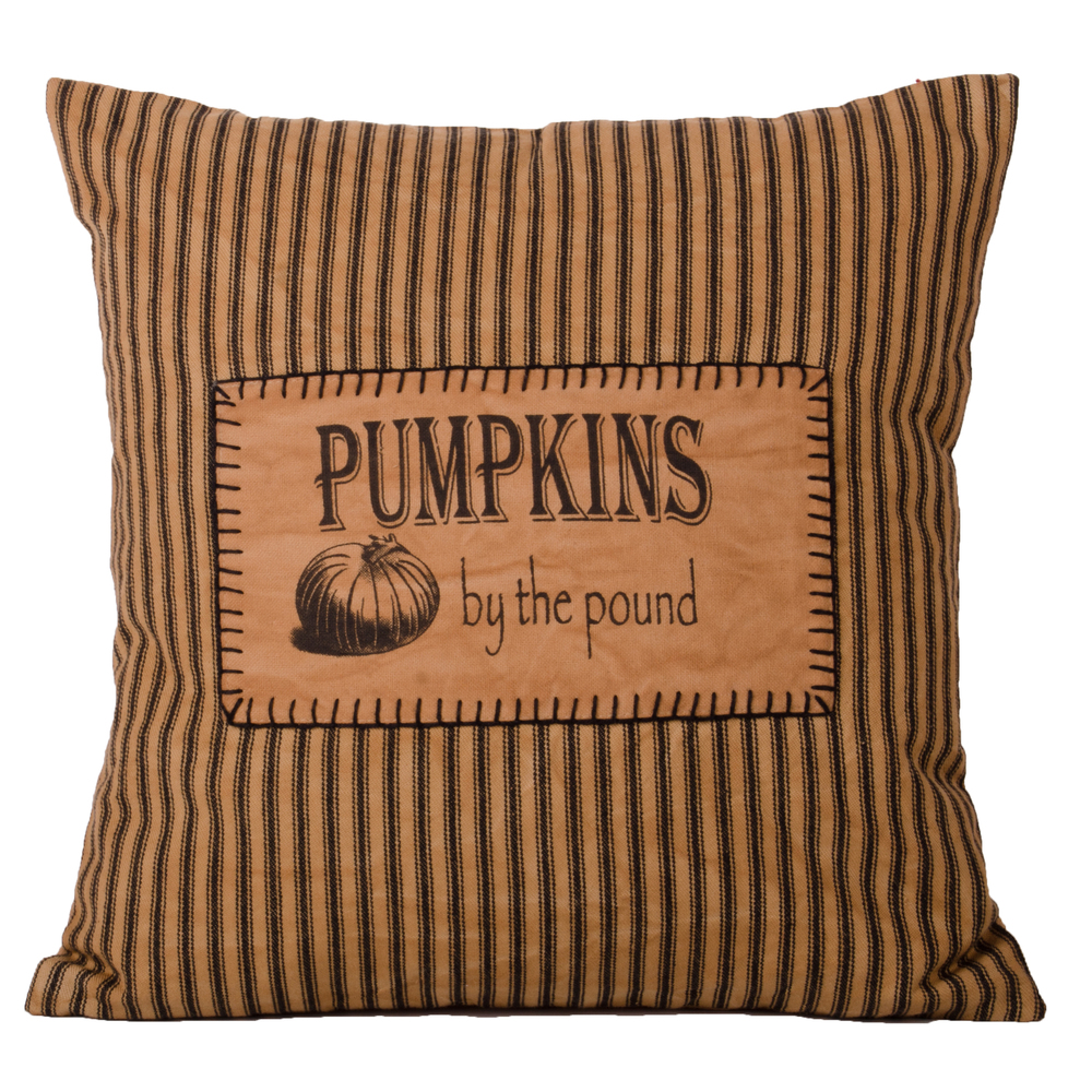Pumpkins By The Pound Pillow Tea Dyed-Black