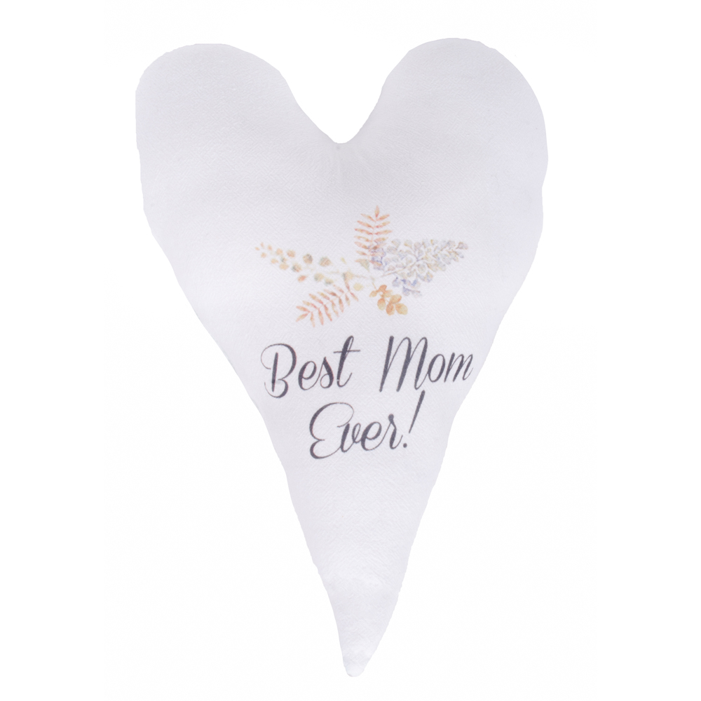 Best Mom Ever White Pillow