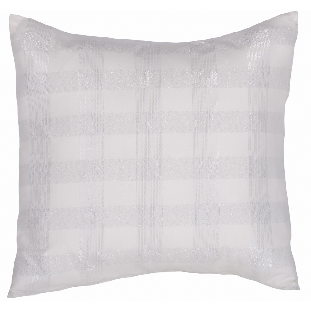 Tinsel Tartan Cream - Silver Pillow