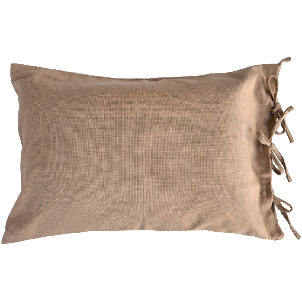 Grain Sack Solid Oat Pillow Sham