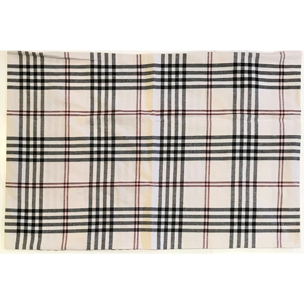Chesterfield Check Cream - Black - Red Pillow Sham