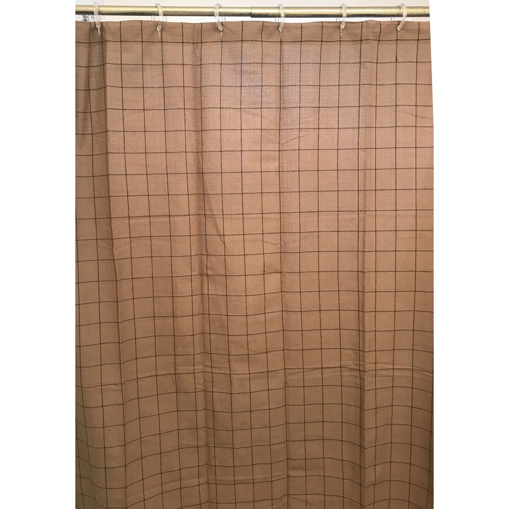 Alexander Check Shower Curtain Oat - Black