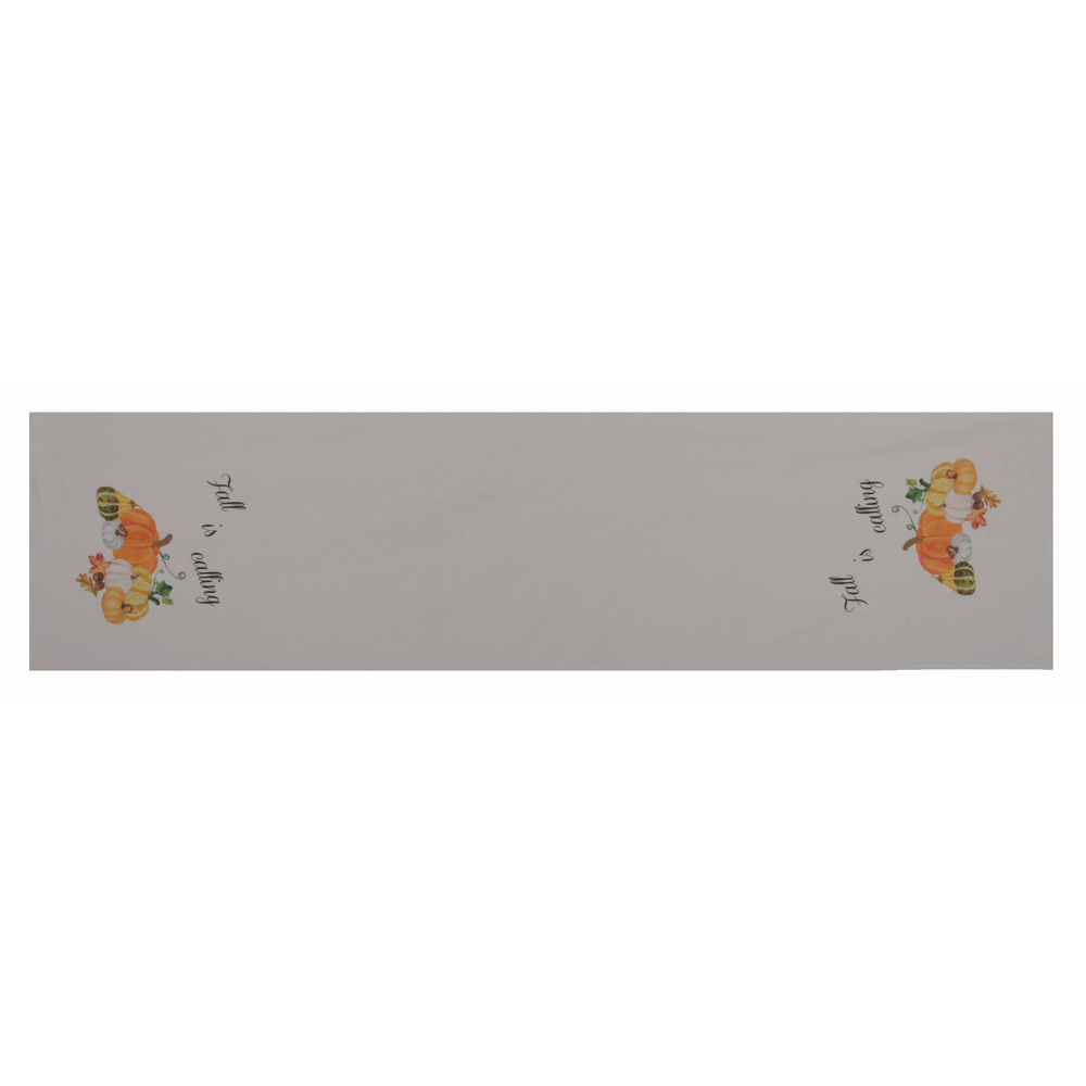 "Fall is Calling Light Grey 54"" Table Runner"
