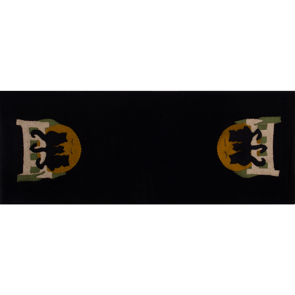 Cats on a Fence Table Runner Black