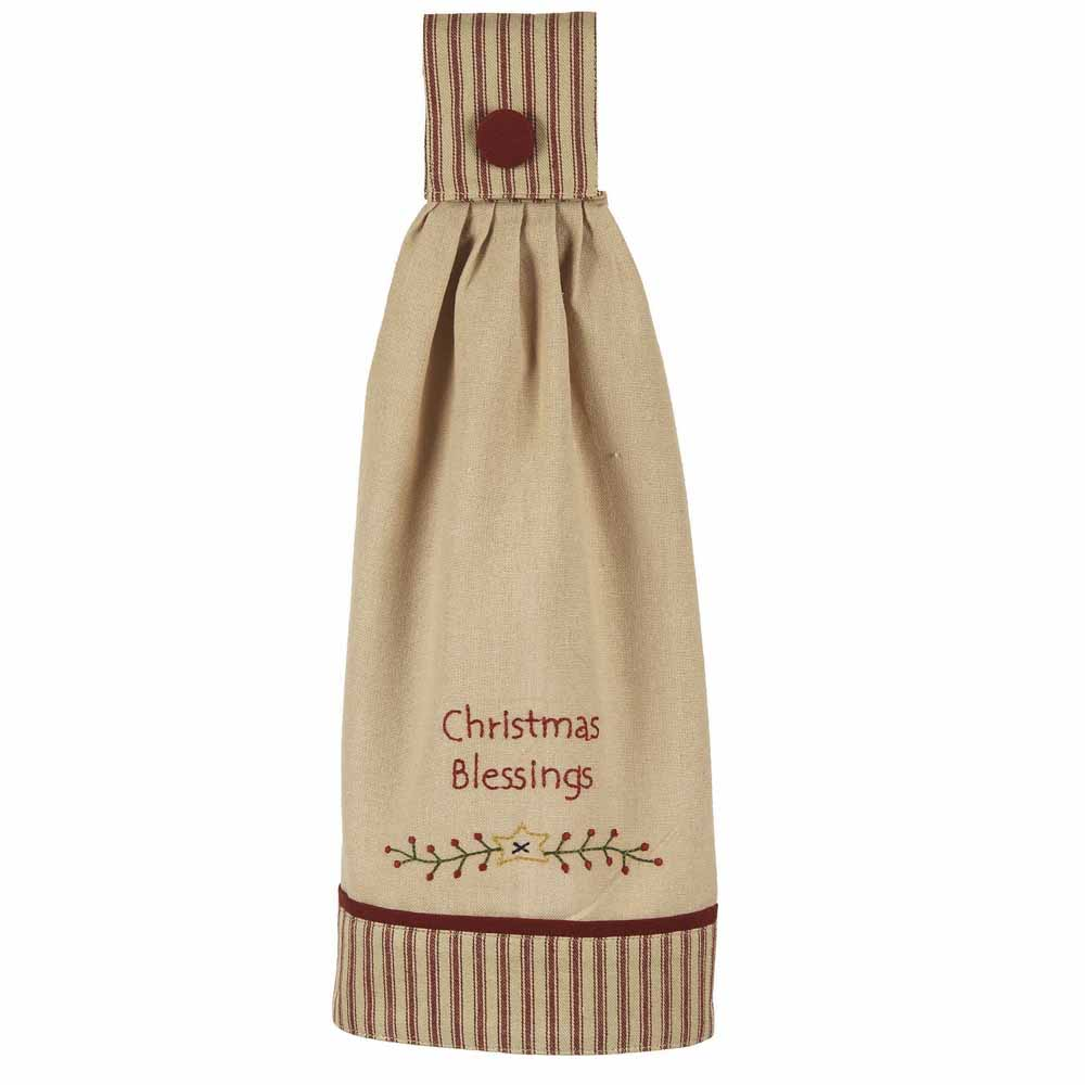 Christmas Blessings Tab Towel