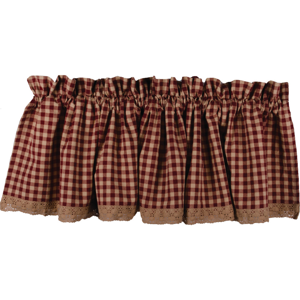 Heritage House Lace Valance Barn Red