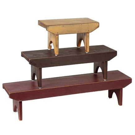 Wood Bradley Benches (Set Of 3)