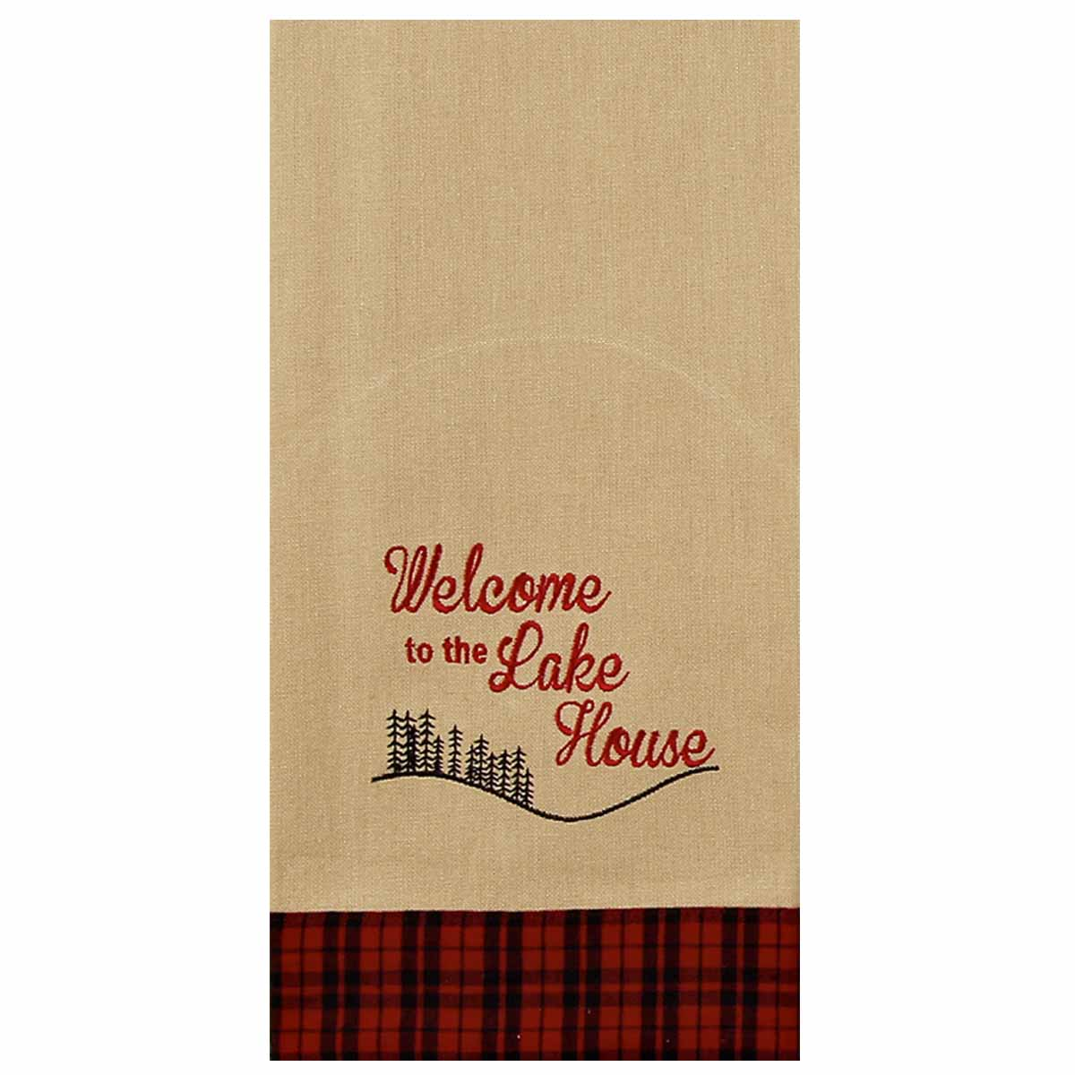 Welcome To The Lake House Towel