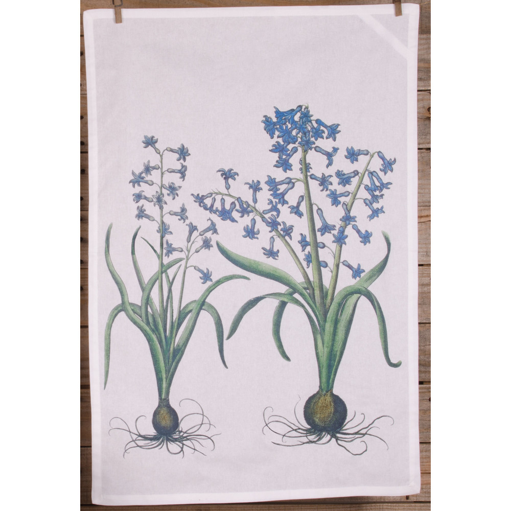 Hyacinth White Kitchen Towel
