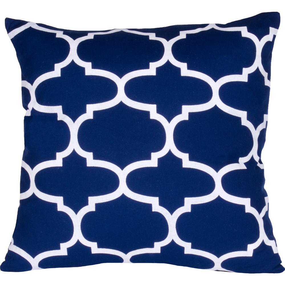 Moroccan Pillow Cobalt-White