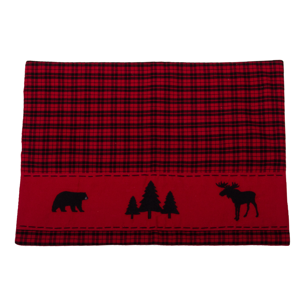 Cabin Country Placemat Black-Red