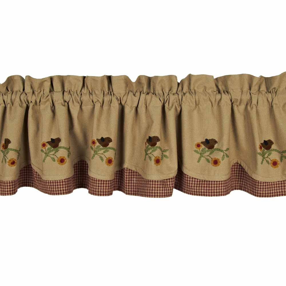 Robin Red Breast Fairfield Valance - Click Image to Close